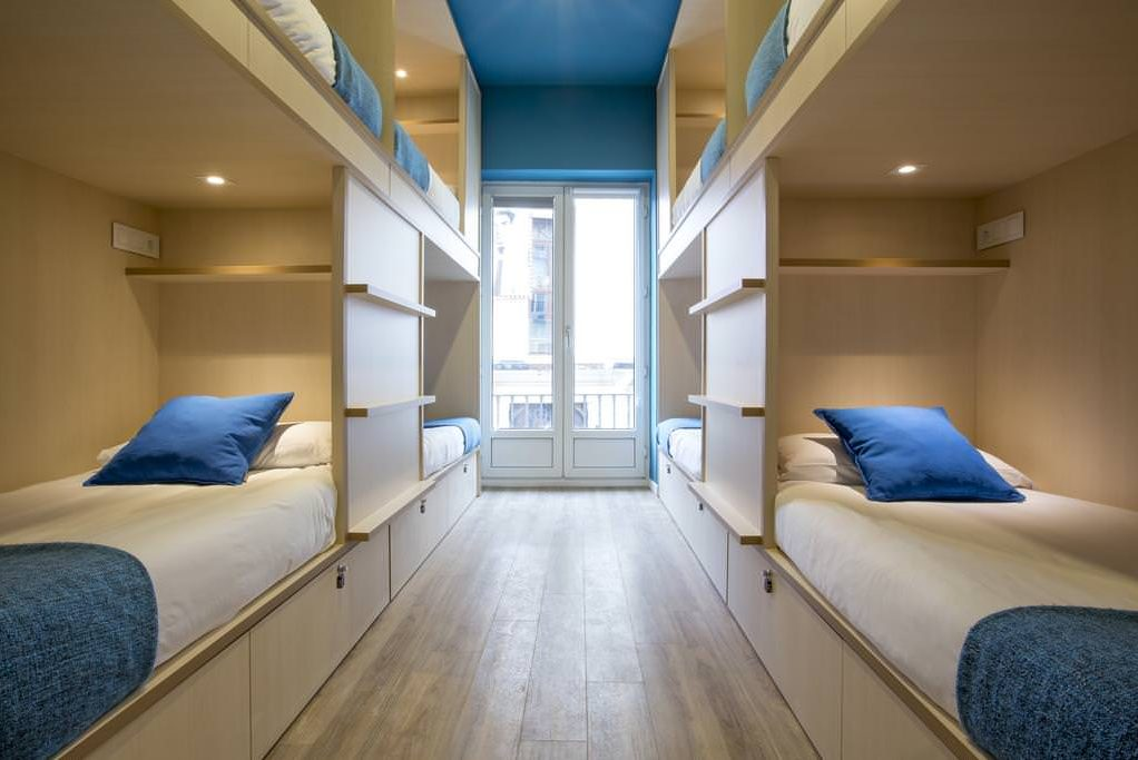 Mola Hostel Madrid shared dormitory for six persons